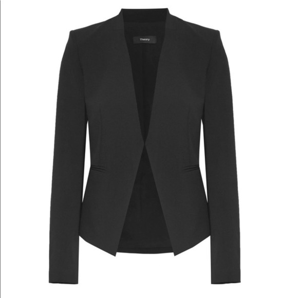 af53a5a6f6 Theory Jackets & Coats | Lanai Black Stretch Wool Blazer | Poshmark